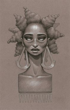 Sara Golish's 'Moon Dust' Series is a Stunning Ode to Afrofuturism and Natural Hair#axzz3iCmUpm5s#axzz3iCmUpm5s