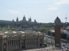 panorama...Montjuich y la Feria de Muestras
