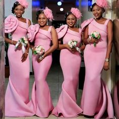 Bridesmaid Dresses Ireland Pink Long Wedding Bridesmaids Inspiration