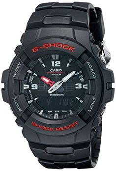Men's Wrist Watches - GShock G100BV Mens Black Resin Sport Watch >>> Read more reviews of the product by visiting the link on the image. (This is an Amazon affiliate link)