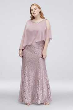 Are you searching for a cute mother of the bride dress? You should take a look at this Plus Size Glitter Lace Mermaid Mother of Bride-Groom Dress with Chiffon. Event Dresses, Modest Dresses, Bridesmaid Dresses, Peplum Dresses, Formal Dresses, Plus Size Evening Gown, Plus Size Gowns, Mother Of The Bride Dresses Long, Mothers Dresses