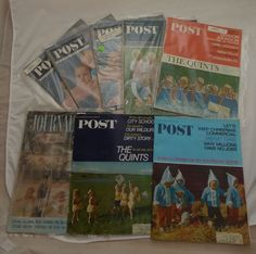 Lot of 6 vintage magazines SATURDAY EVENING POST 1964 '65 '66 '67 #SaturdayEveningPost