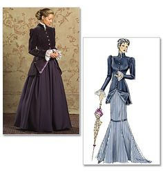 B4954, Misses'/Misses' Petite Early 20Th Century Costume