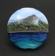 This is part of my new range of beads, Scottish Mountain Landscapes. This one is designed to look like an oil painting - but it hasnt been