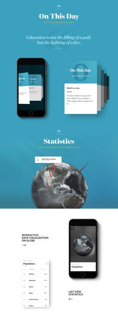 National Geographic World Atlas iOS App on Behance UX / UI Design / App / Layout