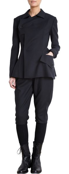 Yohji Yamamoto Asymmetric Jacket Asymmetry+sihlouette, I believe this is future of clothes Mode Style, Style Me, Yohji Yamamoto, Mode Inspiration, Japanese Fashion, Fashion Details, Prada, Women Wear, Models