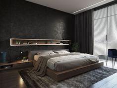 Mens Modern Bedroom - Interior Design for Bedrooms Check more at http://jeramylindley.com/mens-modern-bedroom/