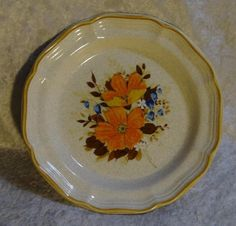 Vintage Mikasa Garden Club EC 452 FlowerFest Stoneware Salad Plate #Mikasa