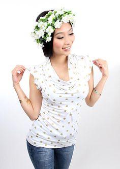 """MEKO Top  """"JUICY_GoldPG"""" von meko® Store   auf DaWanda.com"""