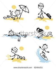 Funny little men on the beach by baza178, via ShutterStock