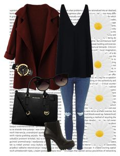 """""""Untitled #125"""" by kidrauhleer on Polyvore featuring WithChic, Accessorize, STELLA McCARTNEY, MICHAEL Michael Kors, Ray-Ban, Steve Madden and Versace"""