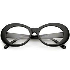 675d945d509 Large Clout Goggles Thick Oval Eyeglasses Clear Lens 53mm