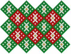 Medieval Arts Crafts: Brick stitch pattern #3