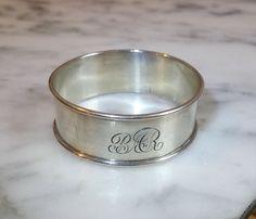 Vintage Birmingham England Sterling Silver Napkin Ring 10.9 Grams 1928-1929
