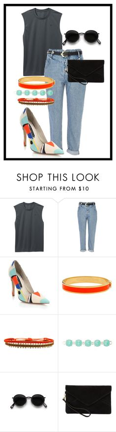 """Untitled #267"" by peaceandlove0 ❤ liked on Polyvore featuring Old Navy, River Island, Alice + Olivia, Halcyon Days, LeJu, Kendra Scott, Acne Studios and MANGO"