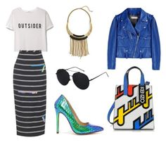 """""""Untitled #1120"""" by dodookn ❤ liked on Polyvore featuring Elise M., Golden Goose, MANGO, Bomedo, Preen, Kenzo and Liliana"""
