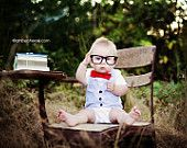 Bow Tie and Vest Onesie with vest on back- Southern Gentleman - Boutique Baby Boy Clothes - Seersucker and Red Bowtie. $49.99, via Etsy.