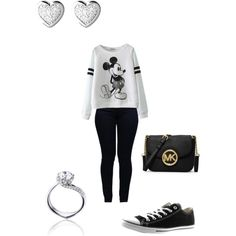 Chill wit Squad by laddaisha-fead on Polyvore featuring polyvore, fashion, style, Armani Jeans, Converse, MICHAEL Michael Kors, Tomasz Donocik and Links of London