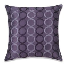 """Euphoria Home Decorative Cushion Cover Pillow Case Shell Purple Faux Silk with Two Tones Chain Circles Rings Embroidery Modern Style 18"""" X 18"""" Euphoria http://www.amazon.com/dp/B00GUD7O7S/ref=cm_sw_r_pi_dp_eF1Fub02G0TN3"""