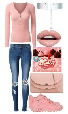 """""""Pinkish"""" by musicmelody1 ❤ liked on Polyvore featuring WithChic, NIKE, Accessorize and Nevermind"""