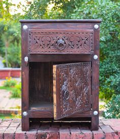 Code: TM-048 Swati hand-carved side table , made of Kail wood.  PKR 8,000 USD 80$, Shipment cost on actual.