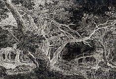 """Ugo Rondinone  No. 249 EINUNDZWANZIGSTER-SEPTEMBERZWEITAUSENDUNDEINS  2001  ink on paper  6' 7 1/2"""" x 9' 10""""  at the Museum of Modern Art"""