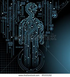 stock vector : abstract  vector background with high tech circuit board