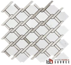 With our variety of marble mosaics we are confident that we have the right products for your projects  Wire Mesh Light Mosaic  Polished (THW-011)   #Whitemarblesource #mosaic #marble #white #interiordesign #showroom #design #architecture #construction #whitetile #backsplash #wiremesh