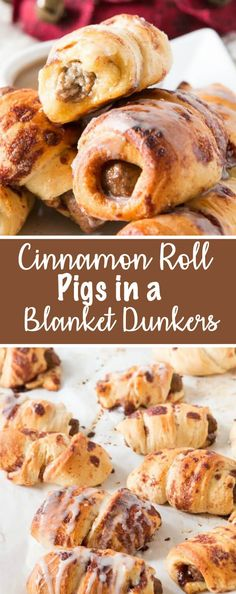 Oh, mama! We made these cinnamon roll pigs in a blanket dunkers for breakfast the other day and it's our new go to breakfast! via @ohsweetbasil
