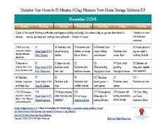 Here's the November 2014 declutter calendar with a daily 15 minute decluttering and organizing mission for each day of the month. Also includes a printable calendar.