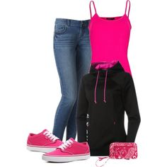 """""""Pink Casual Saturday"""" by lkthompson on Polyvore"""