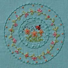 Love lady birds - like the circles and flowers
