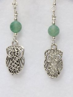 Owl Earrings.   E-1085