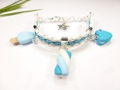 bracelet enfant coeur macaron glace esquimau fimo étoile : Bijoux enfants par kintcreations