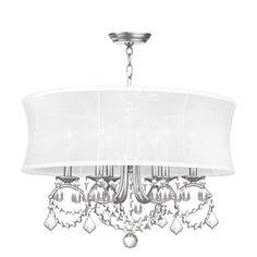 newcastle brushed nickel six light pendant livex lighting drum pendant lighting ceiling li