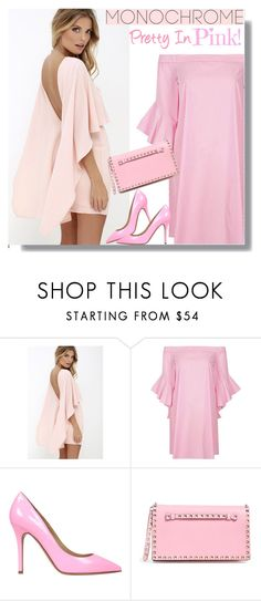 """Color Me Pink"" by teah507 ❤ liked on Polyvore featuring LULUS, River Island, Semilla, Valentino and monochromepink"