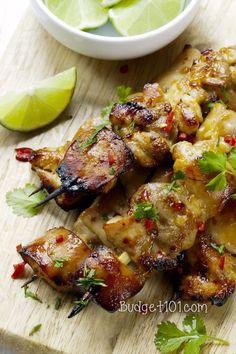 Key West Grilled Chicken Skewers