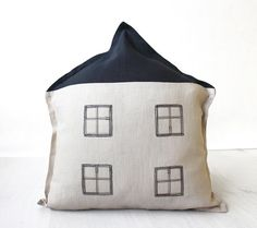 Novelty pillow Decorative throw pillow Linen by BeanieonHelinaSHOP, €48.00