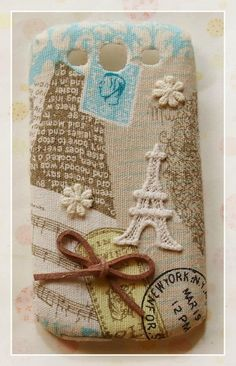 Diy Handmade Cloth Art Phone Case no.70 Classical Design with Eiffel Tower for Samsung Galaxy S3 SIII S2 Note Nexus Ace Plus 2 Other Phones. $20.99, via Etsy.