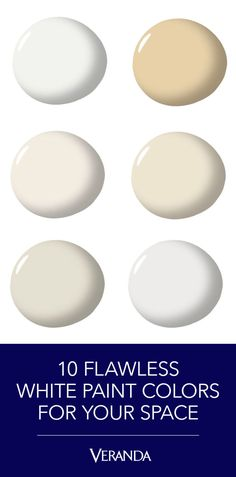 23 Best White Paint Colors - Pretty Shades of White Paint for Each Room Off White Paint Colors, Off White Paints, Best White Paint, Neutral Paint Colors, Wall Paint Colors, Paint Colors For Home, House Colors, Best Interior Paint, Interior Paint Colors