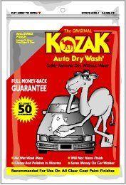 Kozak Super Size 4.5 sq.ft Waterless Car Wash Duster Cloth Auto Dry Wash