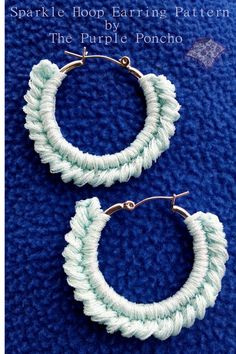 Here is a fun and quick earringpatternfor you to make using embroidery thread and a pair of hoop earrings. You know I love a little sparkle, and thisembroidery threadhas just the right ...