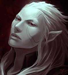 technically this is a (albino) dark elf. Still looks pretty vampy to me! ^__^