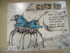 Mail Me Art exhibition - Kaitlin Becket by Queenie & the Dew, via Flickr