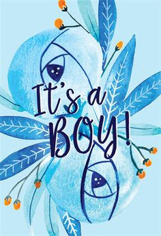 """""""Floral It's a boy"""" printable card. Customize, add text and photos. Print for free! Congrats On Baby Boy, Baby Boy Cards, New Baby Cards, Baby Shower Invitation Cards, Baby Shower Cards, Baby Boy Shower, Boy Printable, Printable Cards, Welcome New Baby"""