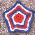 Patriotic Dish Cloth - Crochet Pattern