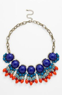 Leith 'Boho' Beaded Statement Necklace available at #Nordstrom $38 completely obsessed !
