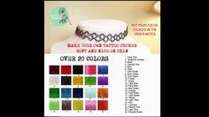 Where to Buy Tattoo Choker Cord DIY Black Tattoo Chokers in 24 Colors Et...