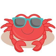 Daily Freebie Miss Kate Cuttables--Beach Crab SVG cutting files for scrapbooking ocean svg cut files ocean svg cuts beach svg files Beach Clipart, Cute Clipart, Ocean Themes, Beach Themes, Silhouette Online Store, Under The Sea Party, Summer Diy, Digi Stamps, Silhouette Design