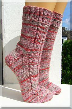 "Ravelry: wolletraum's ""Rapunzel lass dein Haar herunter"" knit by B. Crochet Socks, Knitted Slippers, Knit Or Crochet, Knitting Socks, Hand Knitting, Crochet Granny, Knit Boots, My Socks, Knitting Accessories"